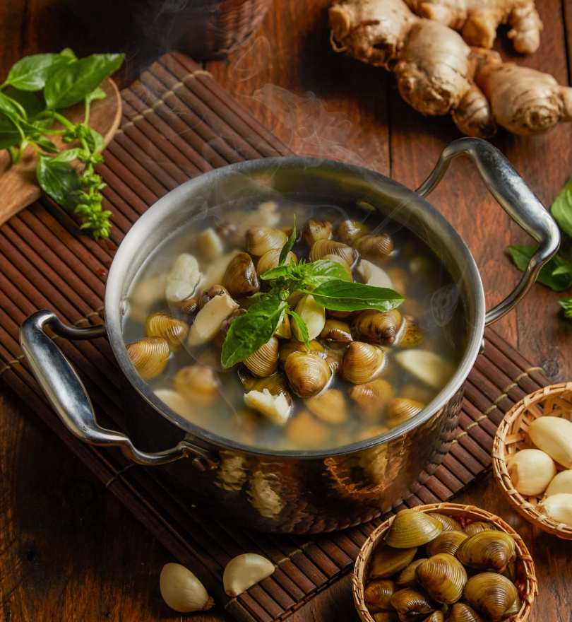黃金蒜香蜆鍋